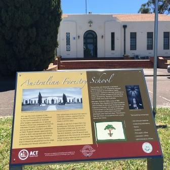 Signage outside the Australian Forstry School