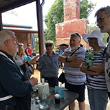 Eucalyptus oil distilling demonstration