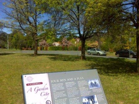 Signage behind the Brassey Hotel in Belmore Gardens