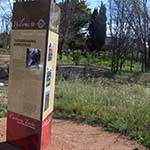 Interpretive signage at Tuggeranong Homestead