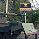 Tank and signage at Canberra Services Club